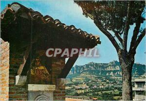Moderne Karte Repubblica di San Marino Mont Titano et Fountaine avec l'Effigie du Saint