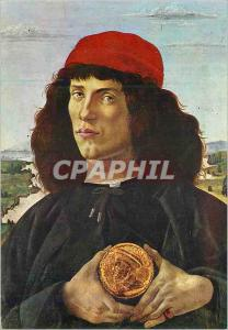 Moderne Karte Firenze Galleria Uffizi L'Homme a la Medaille Portrait d'Homme