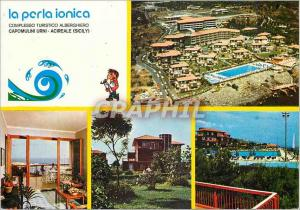 Moderne Karte Capomulini Urni Acireale (Sicily) La Porla Ionica Complesso Turistico Alberghiero