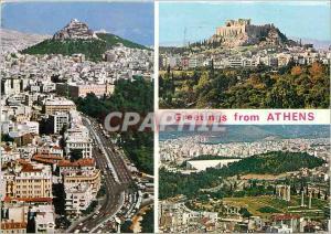 Moderne Karte Greetings from Athens Grece
