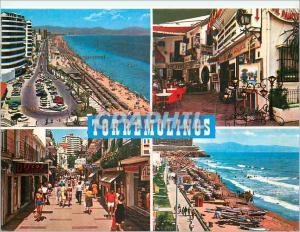 Moderne Karte Costa Del Sol Torremolinos Vues Diverses