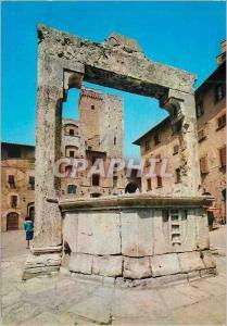 Moderne Karte Citta di S Gimignano (Siena) Place della Cisterna