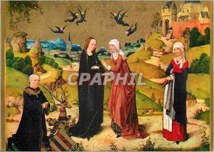 Moderne Karte Pinakothek Munchen la Visitation die Heimsuchung Meister des Marienlebens (1450 1480)