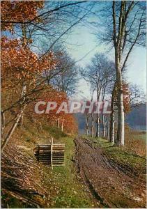Moderne Karte Lyons la Foret (Eure) la Normandie Pittoresque Chemin D'Automne