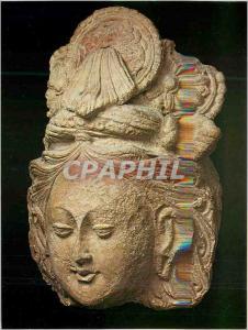 Moderne Karte Paris Musee Guimet Tete de Bodhisattva Toumchouq (Sin Kiang Chine) VIe VIIe siecles Terre Sechee