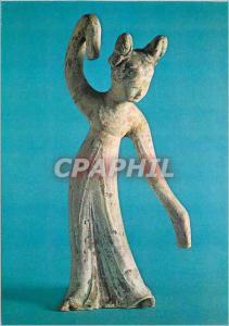 Moderne Karte Paris Musee Guimet Statuette Funeraire (Ming k'i) Danseuse Chine Epoque T'ang VIIIe siecle Terre