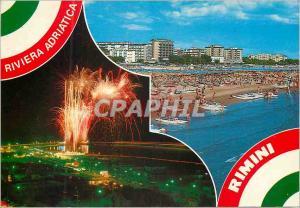 Moderne Karte Rimini Riviera Adriatica