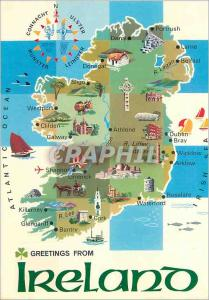 Moderne Karte Ireland an Island is the most Westerly country in Europe and Covers