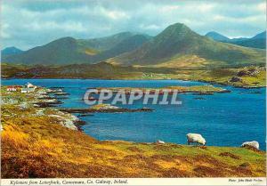 Moderne Karte Galway Ireland Kylemore from Letterfrack Connemara Co