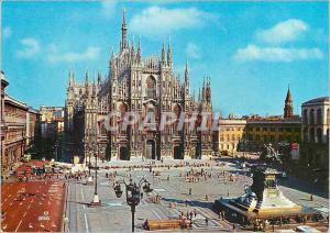 Moderne Karte Milano Place de la Cathedrale
