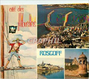 Moderne Karte Roscoff Couleurs de Bretagne Le Port Les Remparts et la tour Marie Stuart Cite des flibustiers