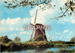 Moderne Karte Hollandse Moulin a Vent