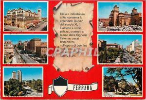 Moderne Karte Ferrara Bella e Industriosa Citta
