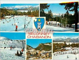 Moderne Karte Chabanon (1600 2000 m) Alpes de Haute Provence Selonnet (1060 m) Station de Sports d'Hiver
