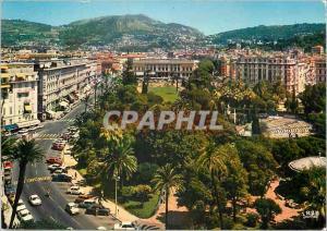 Moderne Karte Nice (A Mmes) Reflets de la Cote d'Azur Les Jardins Albert Ier Au Loin La Place Massena