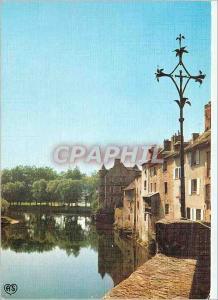 Moderne Karte Espalion (Aveyron) Echappee sur le Lot et le Palais Renaissance
