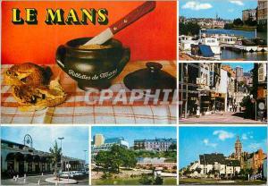 Moderne Karte Le Mans (Sarthe) les Merveilles du Maine les Fameuses Rillettes du Mans le Port la Rue Marchande
