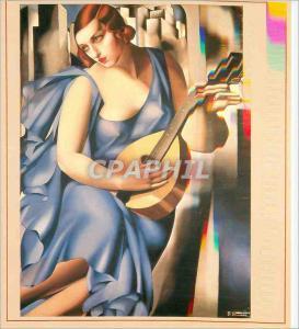 Moderne Karte USA Privatbesitz Tamara de Lempicka 1898 1980 Musikantin 1929