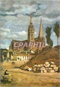 Moderne Karte La Cathedrale de Chartres Camille Corot