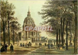 Moderne Karte Paris du Temps Jadis le Dome des Invalides