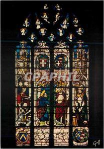 Moderne Karte Bourg en Bresse (Ain) Eglise de Brou Vitrail de l'Incredulite de Saint Thomas