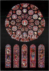 Moderne Karte Cathedrale de Chartres Crypte Rose Sud XIIIe Siecle