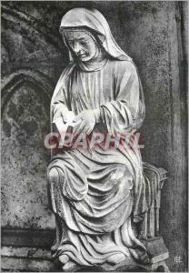 Moderne Karte Cathedrale de Chartres Crypte Portail Nord (XIIIe Siecle) Vie Contemplative (Elle Ouvre son Livr