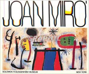 Moderne Karte New York Solomon R Guggentheim Museum Joan Miro Painting 1953