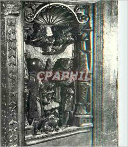 Moderne Karte L'Eglise de Montreal (Yonne) Les Stalles du XVIe S Deux Anges annoncent aux Bergets la Naissance
