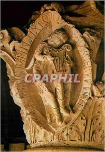 Moderne Karte Abbaye de Cluny Chapiteau Tons de la Musique La Cithare