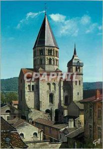 Moderne Karte Abbaye de Cluny (Saone et Loire) En Bourgogne Clocher de l'Eau Benite et Clocher de l'Horloge (X