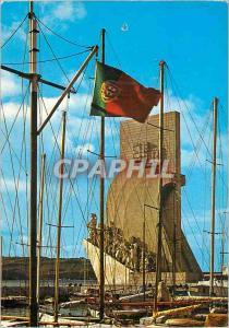 Moderne Karte Lisboa Portugal Monument aux Decouvertes Bateaux