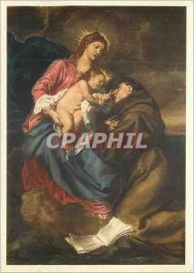 Moderne Karte Pinacoteca di Brera Milano Van Dyck La Madonna Col Bambino E Sant Antonio