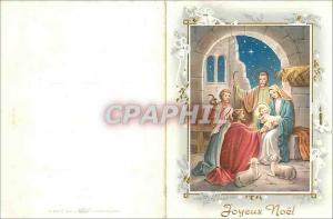 Moderne Karte Joyeux Noel Christ