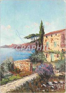 Moderne Karte Cote d'Azur Paysage de Provence (par Helou JC)
