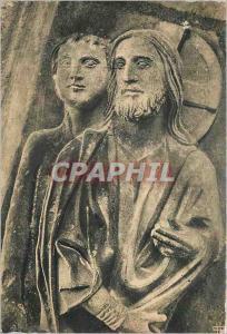 Moderne Karte Cathedrale de Chartres Portail Nord (XIIIe siecle) Dieu creant les Oiseaux voit Adam dans sa Pen