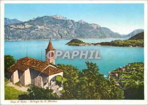 Moderne Karte Lago di Como Bellagio da S Martino
