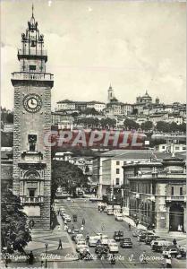 Moderne Karte Bergamo Veduta Citta Alta e Porta S Giacomo