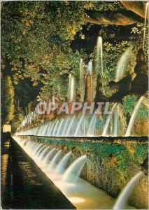 Moderne Karte Tivoli Villa d'Este Cent Fontaines