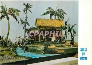 Moderne Karte Creche du Vietnam Nativite Realisee en 1966 par Remy Duong Duc Tan Noels du Monde