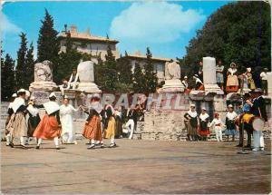 Moderne Karte Fete Provencale en Arles les Belles Images de Provence Folklore