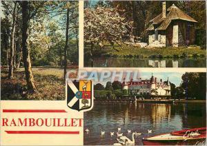 Moderne Karte Rambouillet (Yvelines) le Parc le Pavillon des Coquillages Vue sur le Chateau