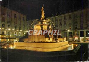 Moderne Karte Nantes Place Royale la Fontaine Illuminee