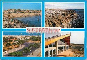 Moderne Karte St Pierre la Mer (Aude) en Parcourant la Cote Mediterraneenne