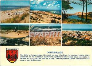 Moderne Karte Contis Plage (Landes) Cote Aquitaine