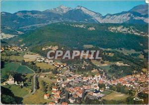 Moderne Karte St Jeoire en Faucigny (Hte Savoie) Vue Generale Aerienne