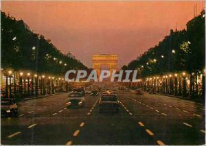 Moderne Karte Paris l'Avenue des Champs Elysees