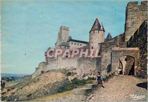 Moderne Karte La Cite de Carcassonne (Aude) la Porte d'Aude le Chateau Comtal