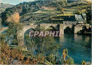 Moderne Karte Entraygues sur Truyere surnommee Entraygues la Joie (Aveyron) Le Haut Rouergue Le Pont Gothique