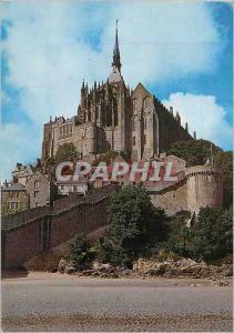 Moderne Karte Abbaye de Mont Saint Michel (Manche) Sanctuaire dedie a Saint Michel qui reste un des Monuments